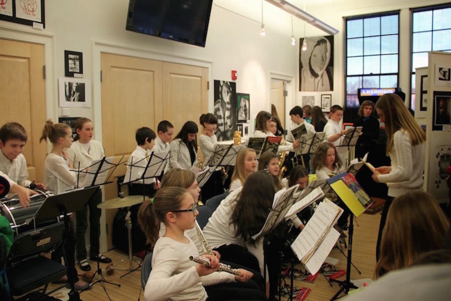 Student Art Exhibit -- Elementary School Orchestra 2014