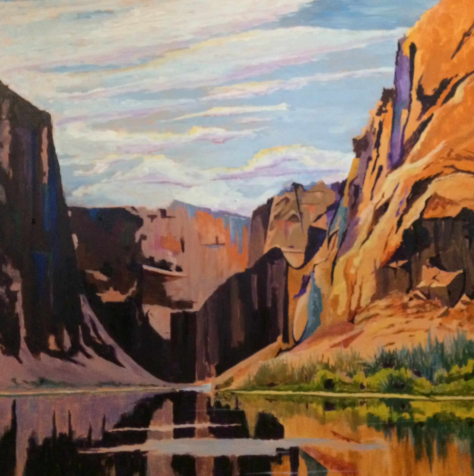 Duffy - On the Colorado, oil