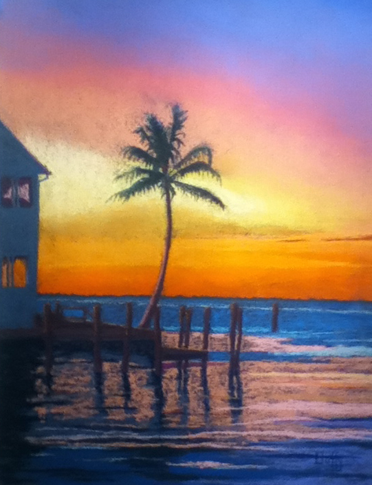 Duffy - Sunset, Punta Gorda, pastel
