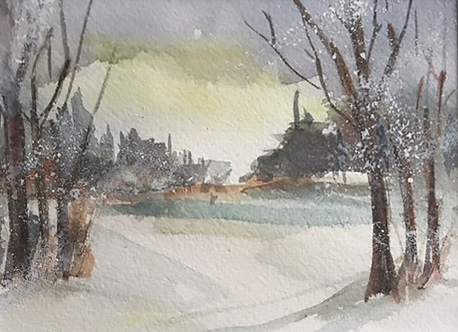 Winter, late afternoon