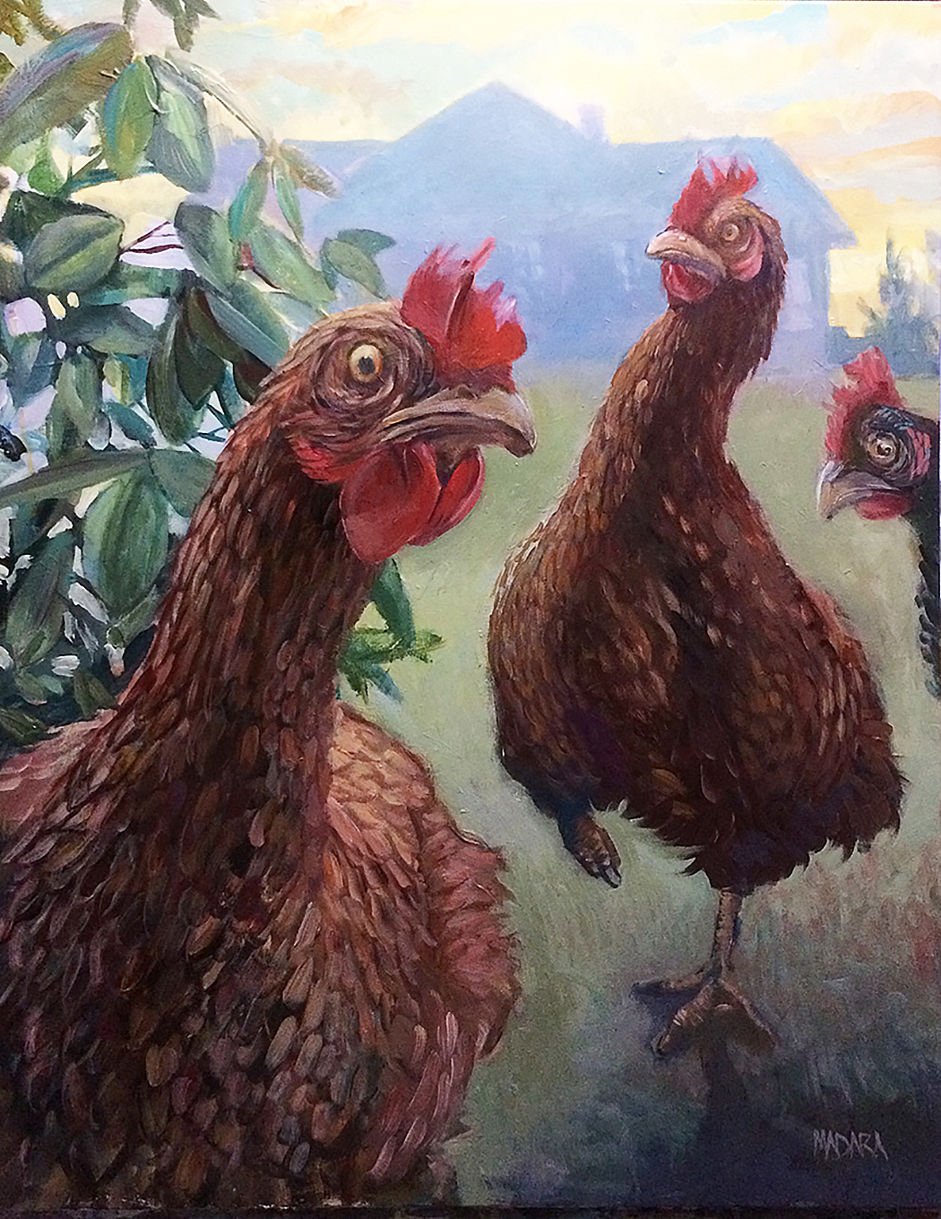 Chickens, acrylic