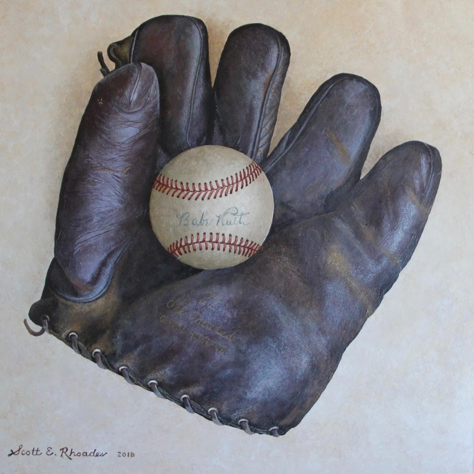 My Grandfather's Glove, acrylic on board