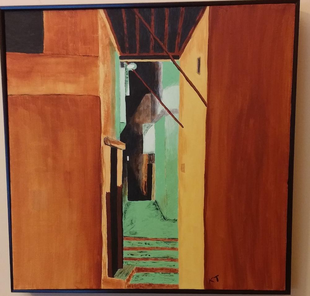Moroccan Alley #3, acrylic
