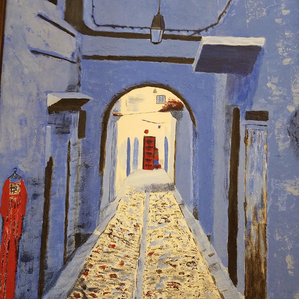 Moroccan Alley #5, acrylic