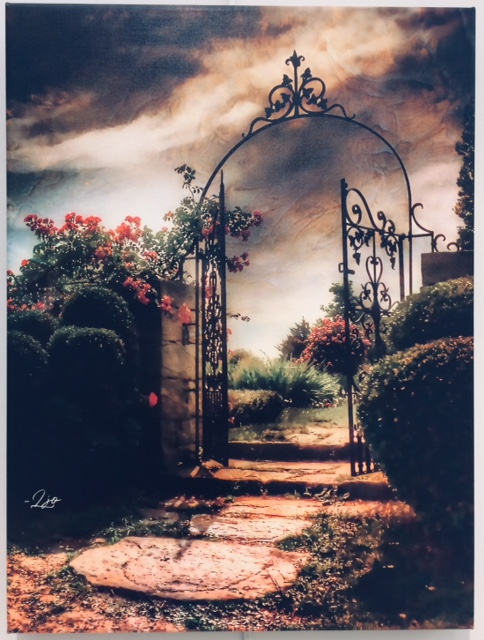 Through an Open Gate, digital art