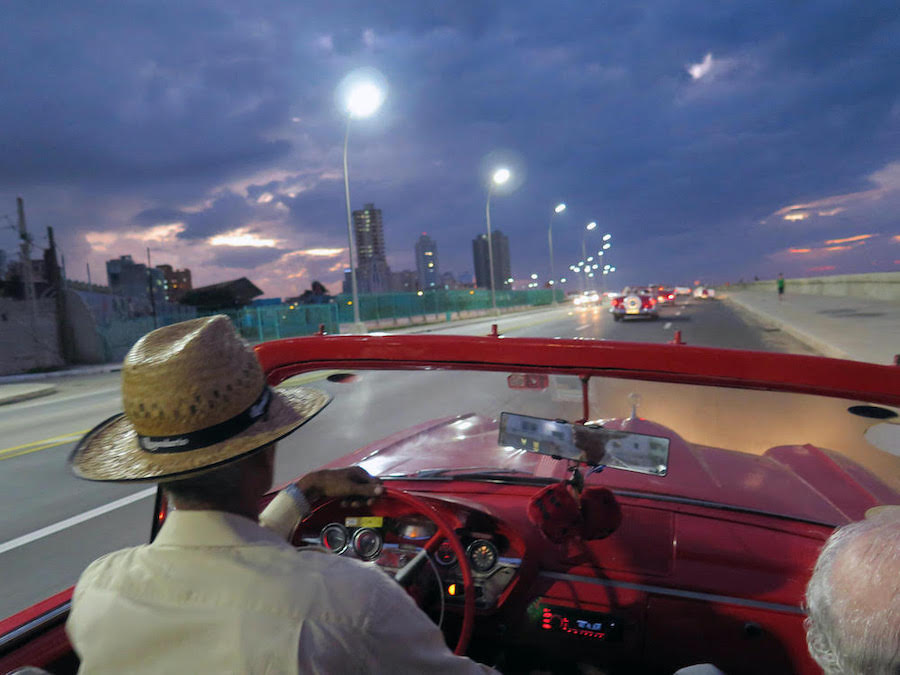 Cruising the Malecon in the Edsel with Moses, photography