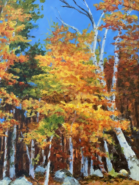 Autumn's Radiance, acrylic