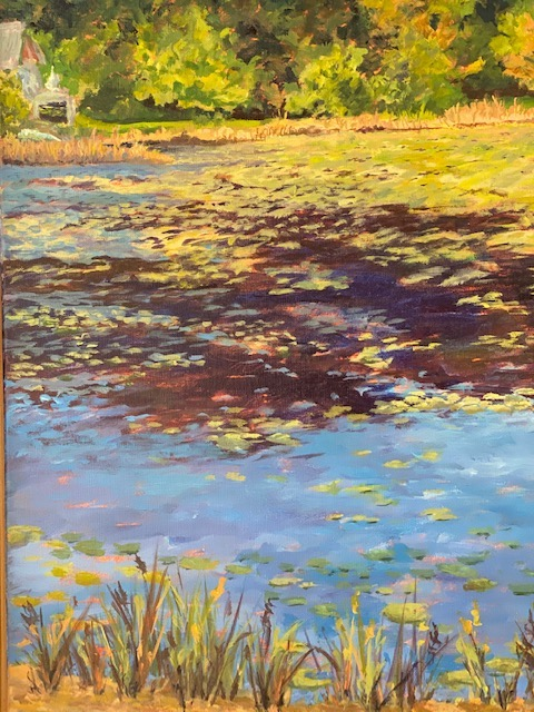 Wellfleet Marsh, acrylic