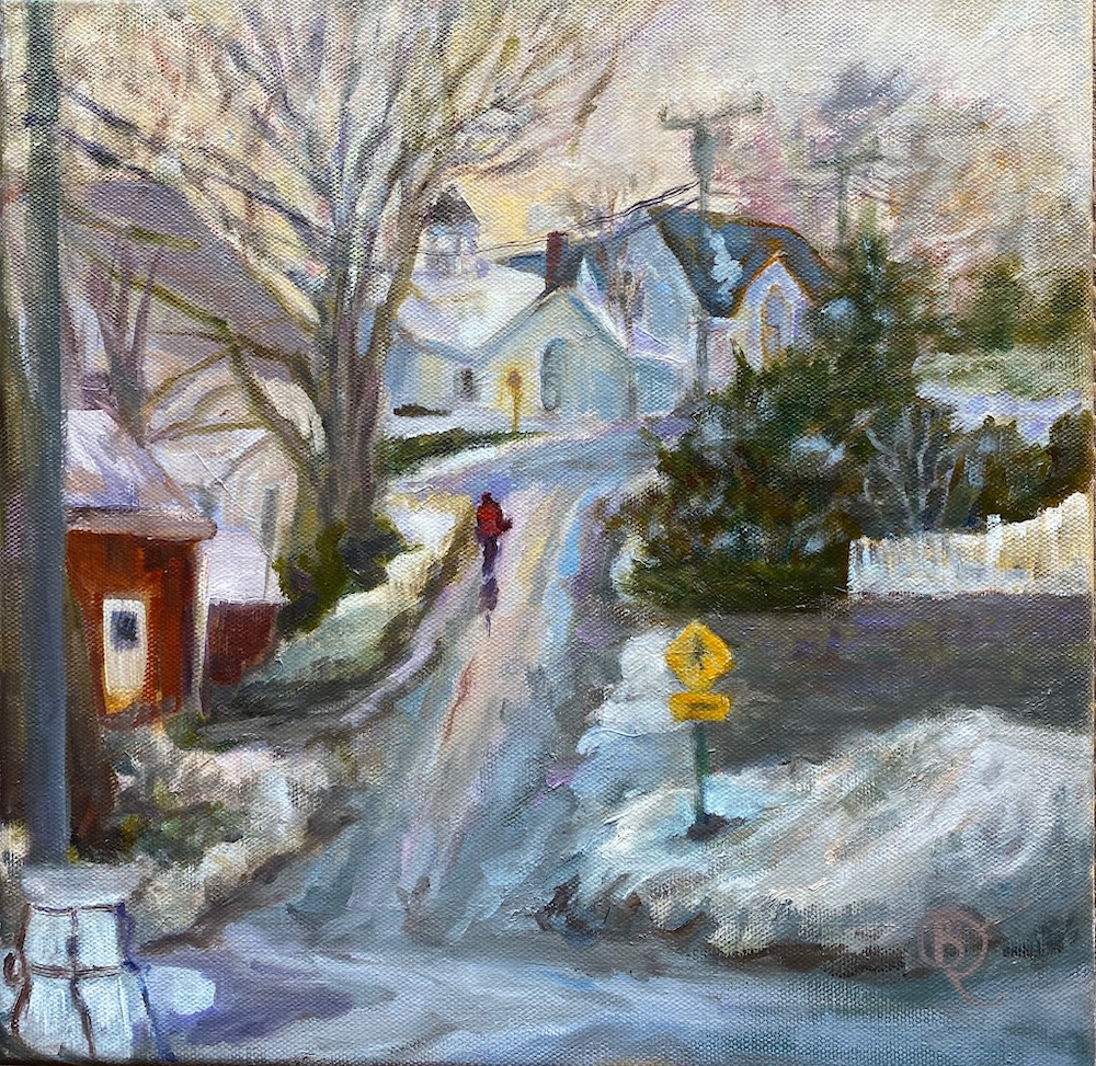The Long Hill, oil