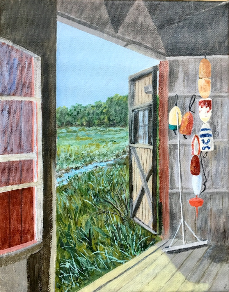 The Boathouse, acrylic