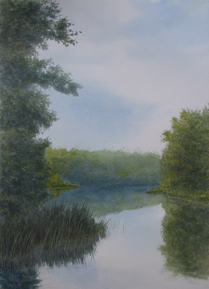 Summer Reflections, watercolor