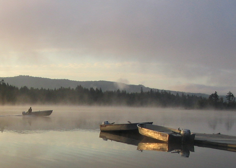 Morning Mist on Lake Aziscohos, photography