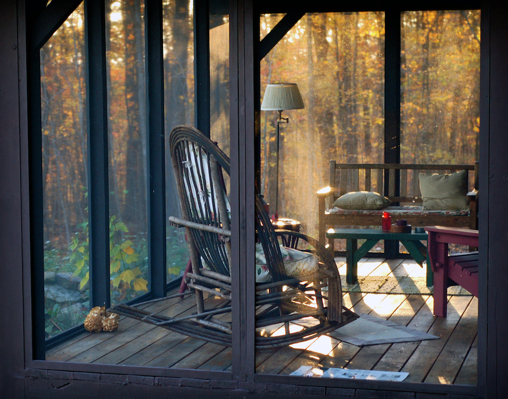 Screened Porch in the Connecticut Woods, photography