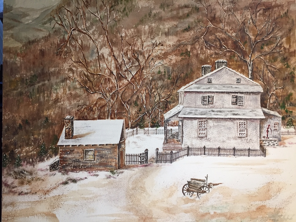 Memories of Home, watercolor