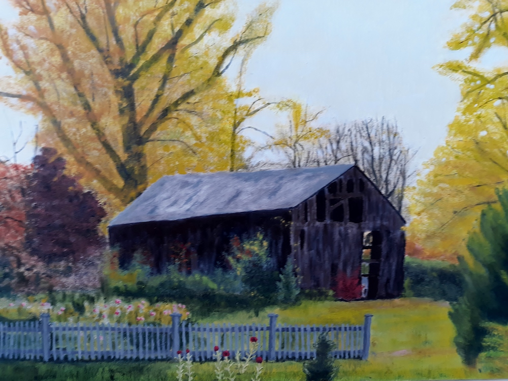 Barn at the Cove, oil