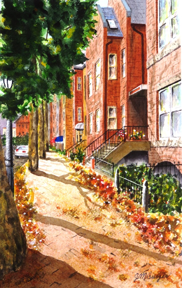 Matoon Street, watercolor