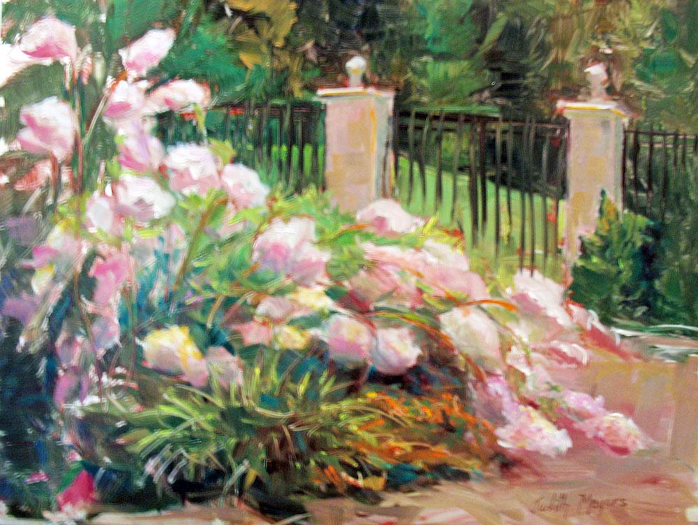 Hydrangea Garden, oil