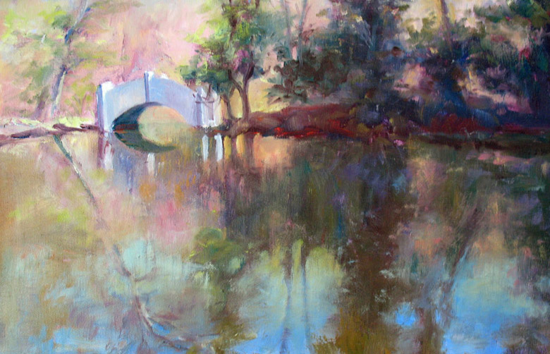 Spring Reflections, oil