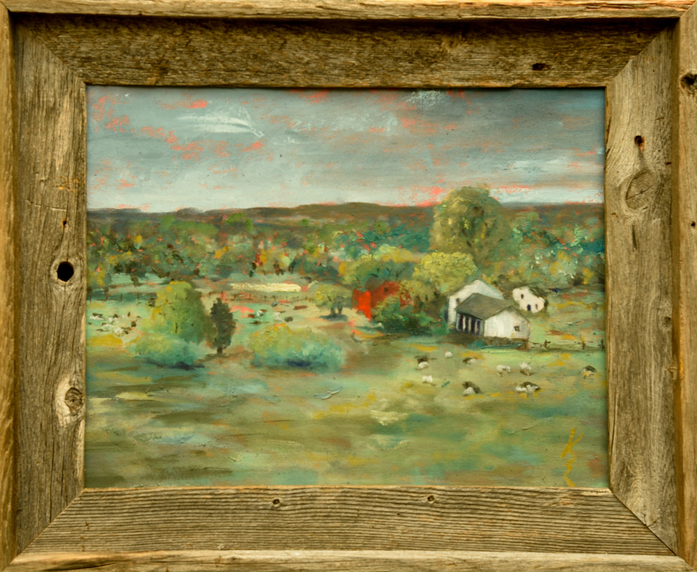 Spring at Hill-Stead, canvas