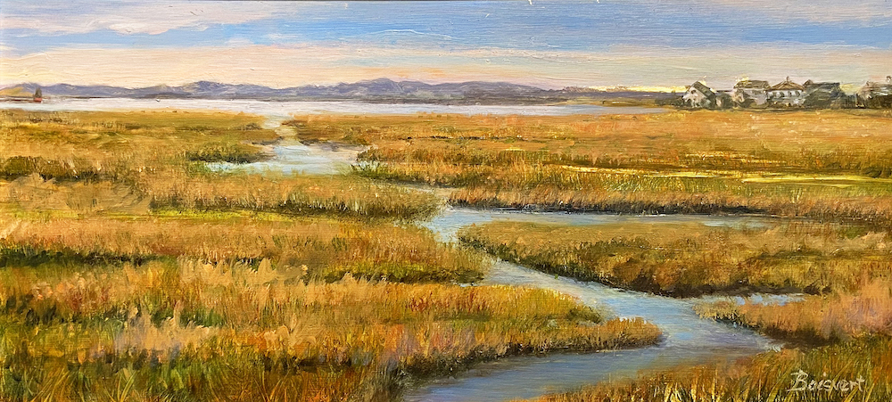 Marsh to Plum Island, oil
