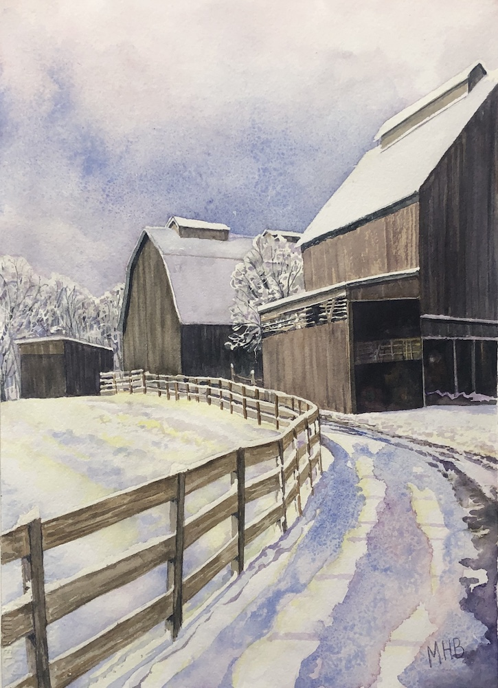 Barn Again, watercolor