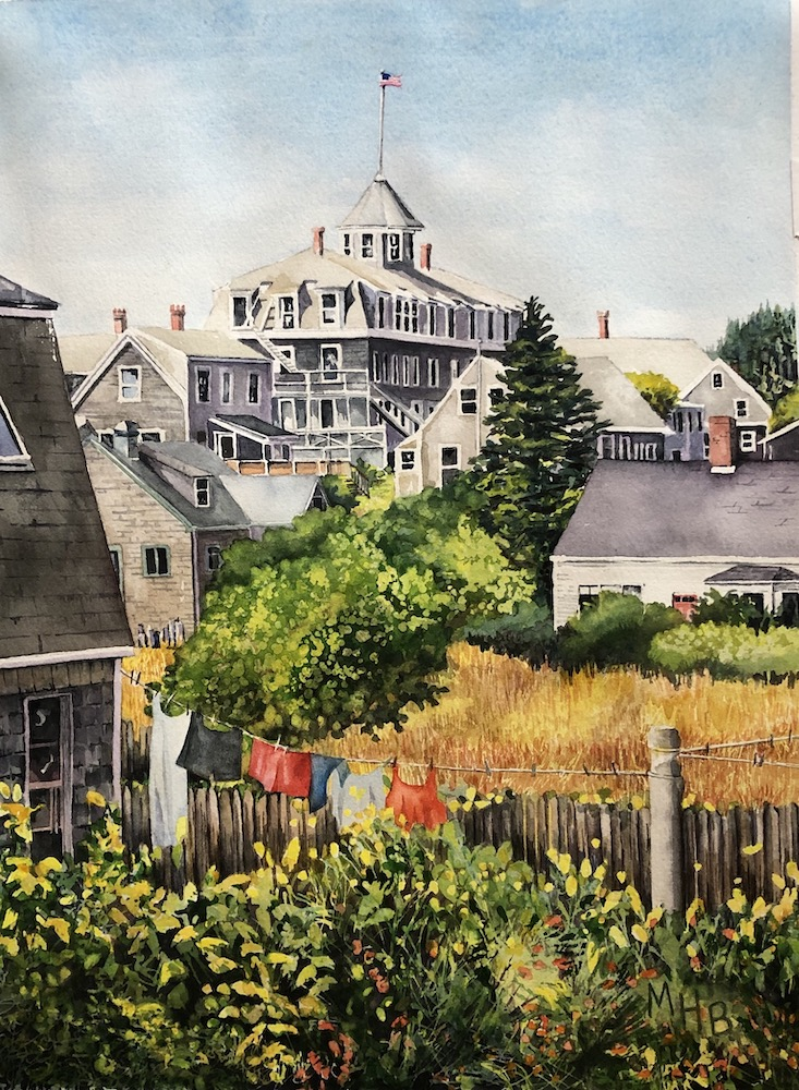 Shortcut on the Island Inn, watercolor