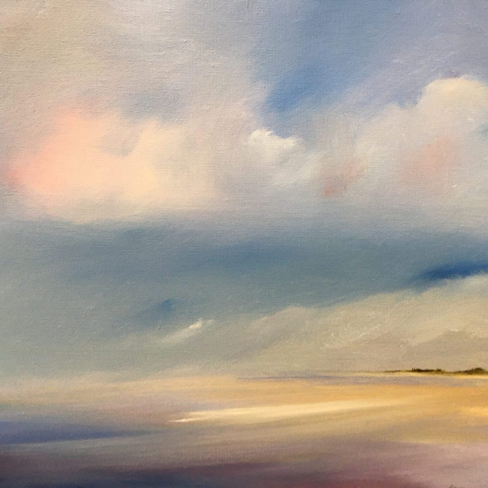 Fog Bank over the South Shore, oil