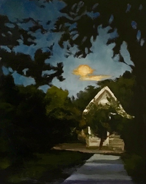 Moon Shadows, oil