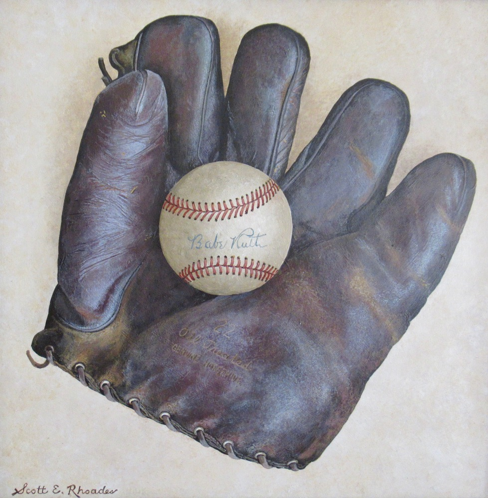 My Grandfather's Glove, acrylic