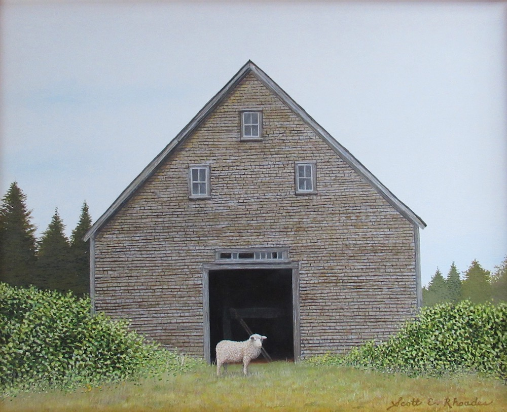 Wish Ewe Were Here, acrylic