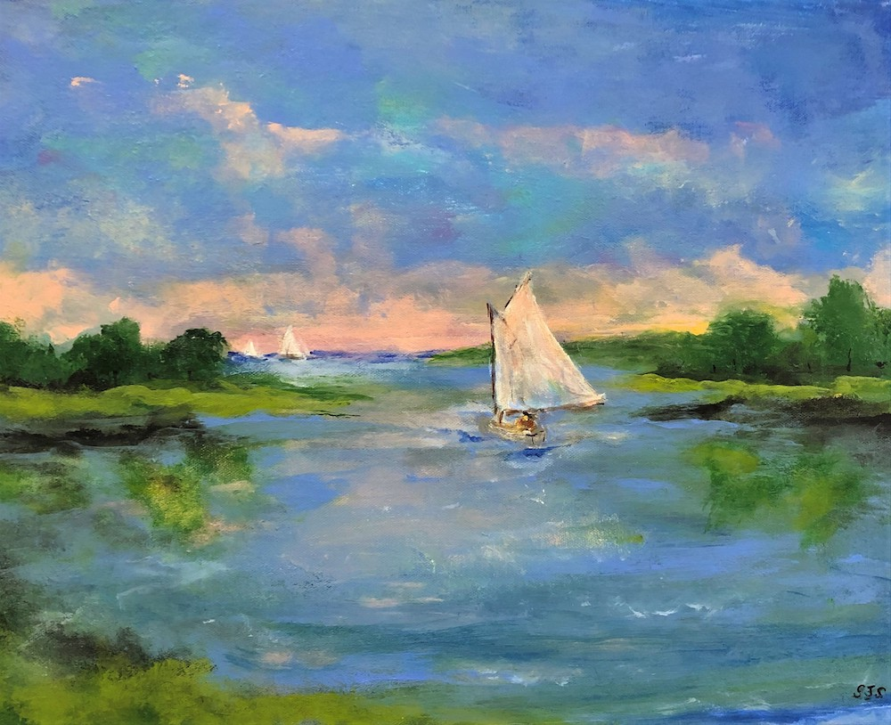Summer Sail, acrylic