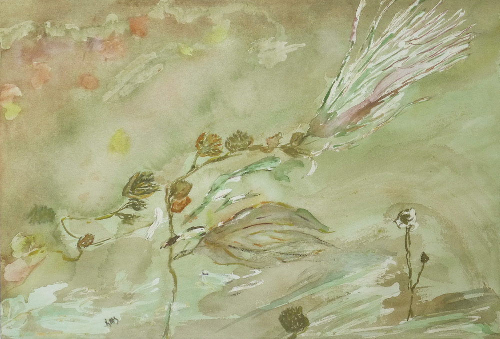 A Windy Afternoon, watercolor