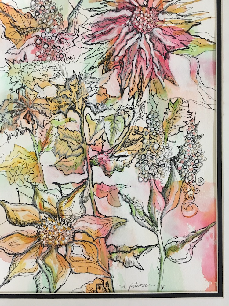 Floral Fantasy, mixed-media