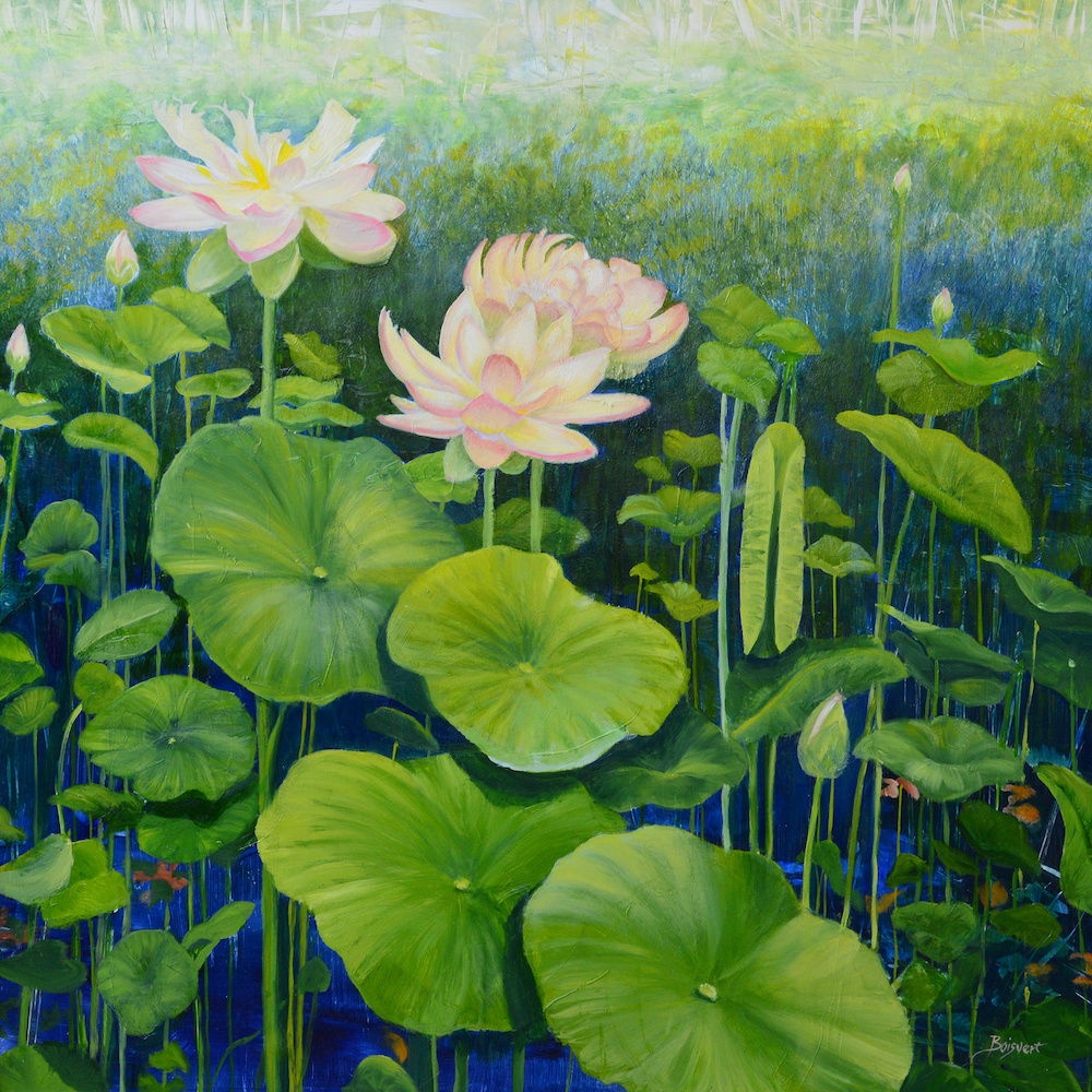 Lotus Rising, oil