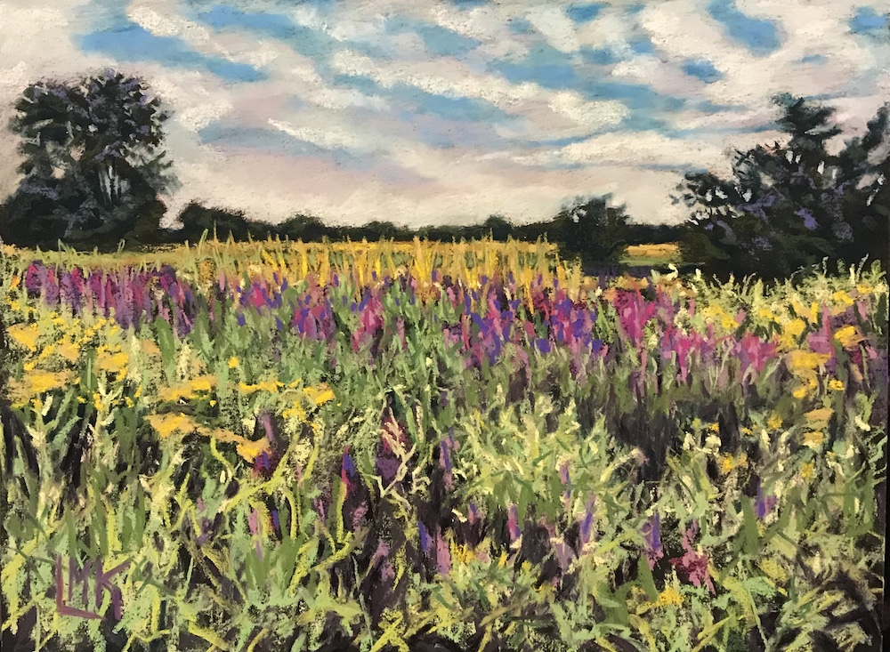 Meadow in August Finery, pastel