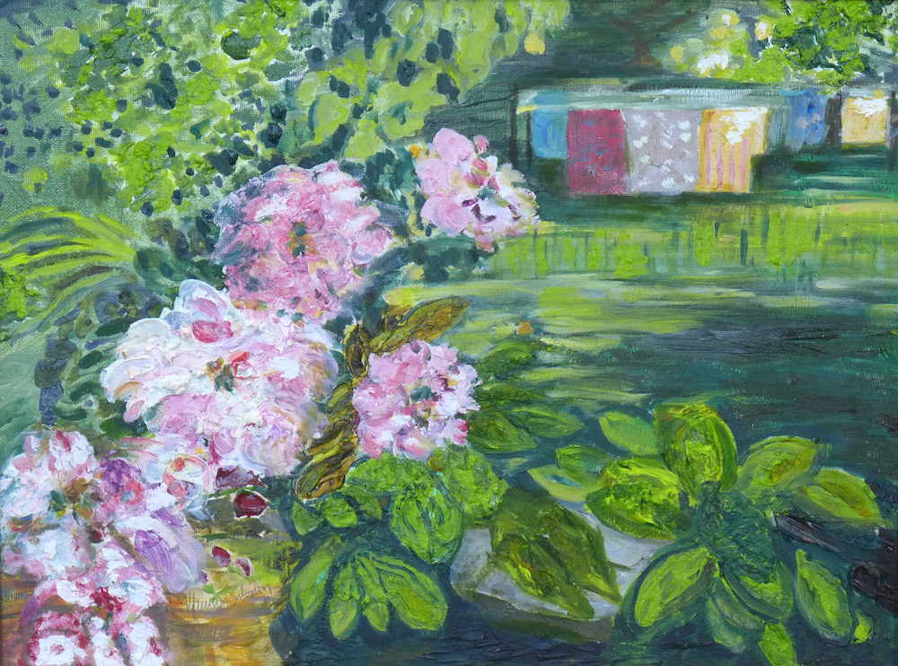Peonies in the Garden, oil