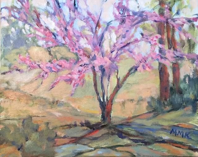 Redbud Tree, acrylic