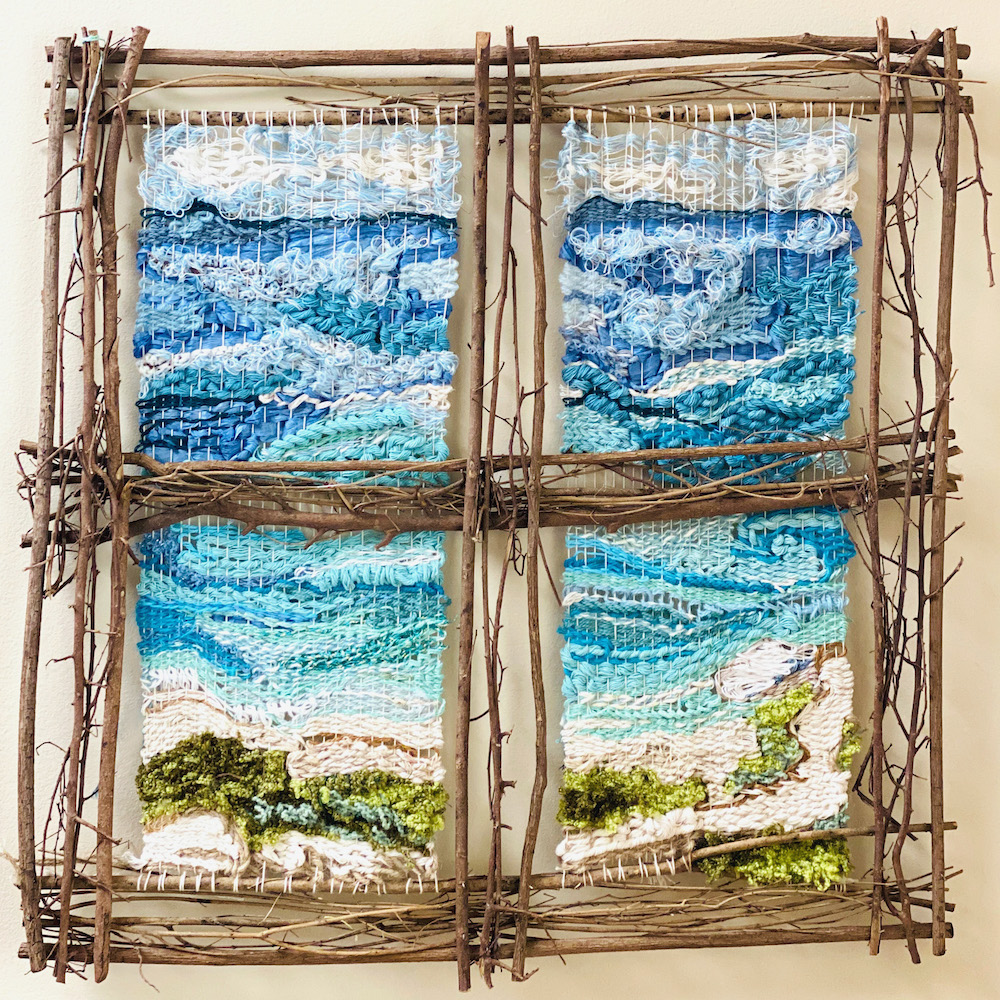 Sea View from an Imaginary Window, fiber sculpture