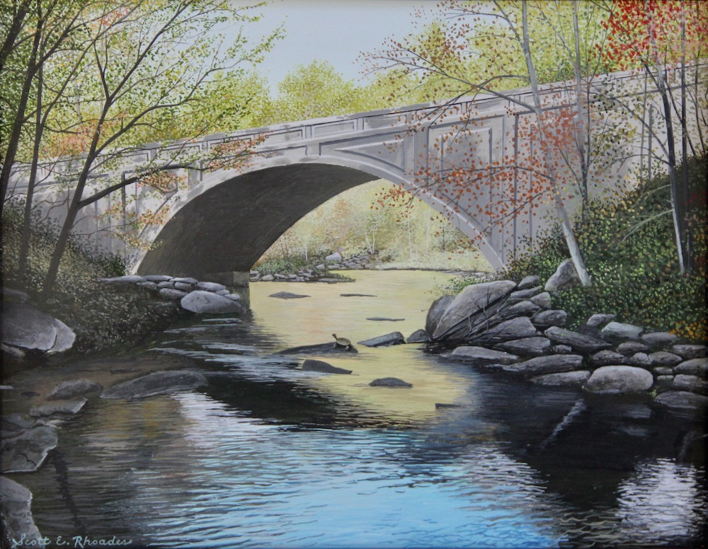 Under the Bridge, acrylic
