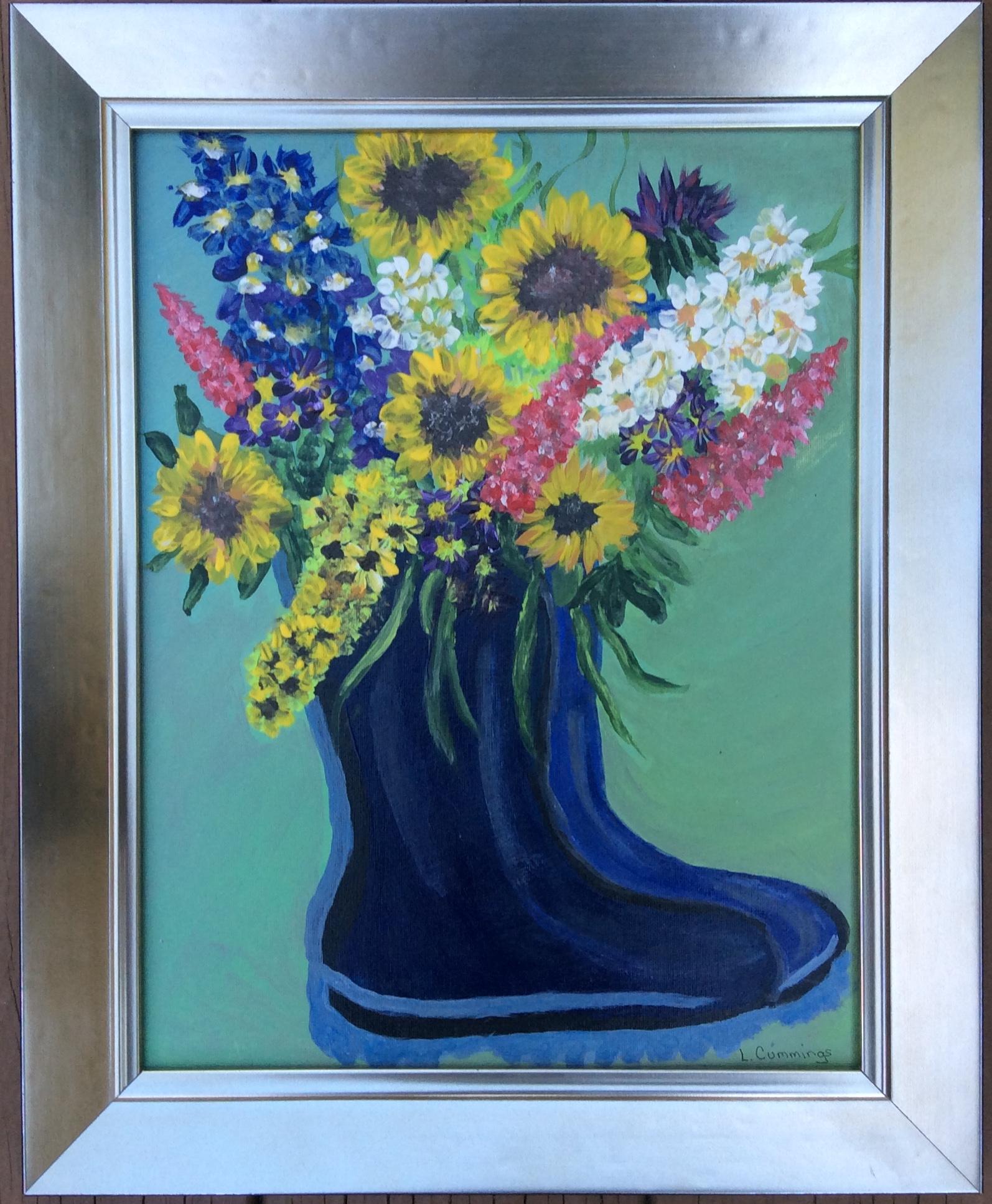Lucille_Cummings_Rain Boot Bouquet