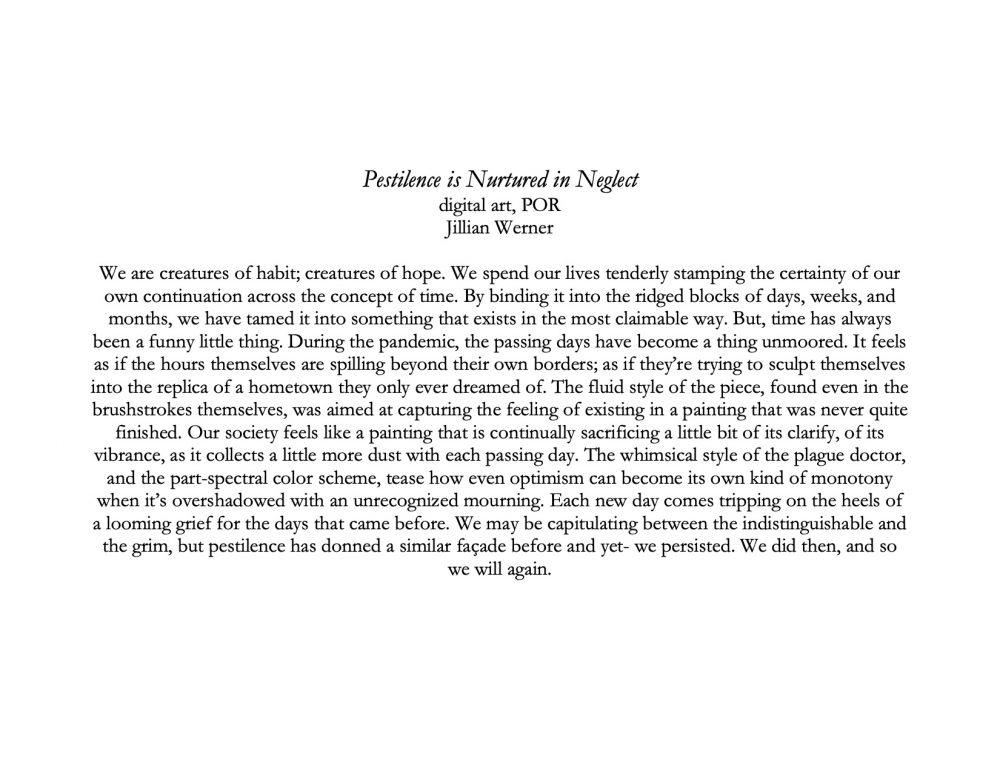 Pestilence is Nutured in Neglect description