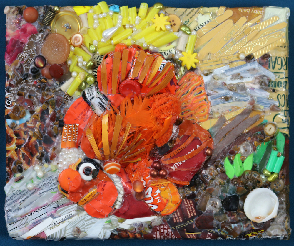Sarah_Schneiderman_Plastic in the Ocean is No Laughing Matter (Anemone Clownfish)