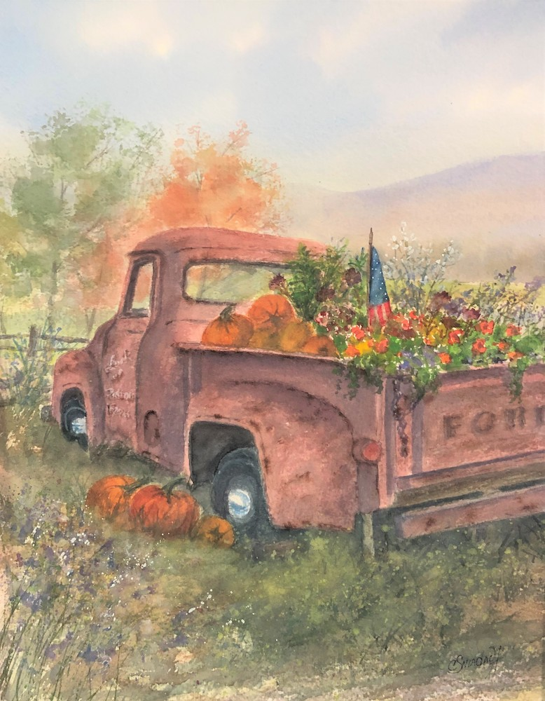 Bountiful Harvest, watercolor