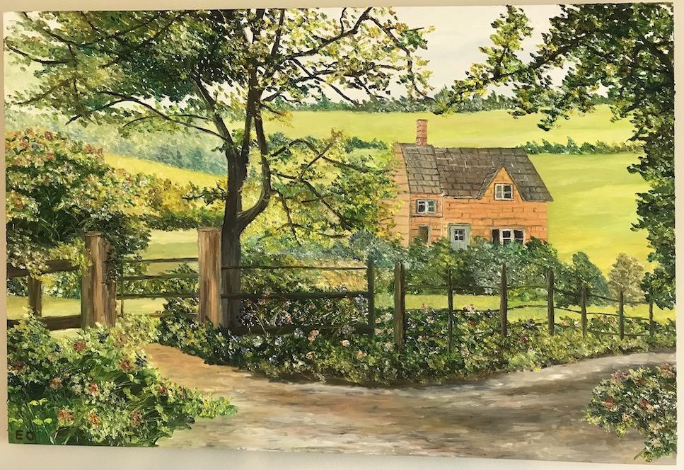 Walk through the English Countryside, oil