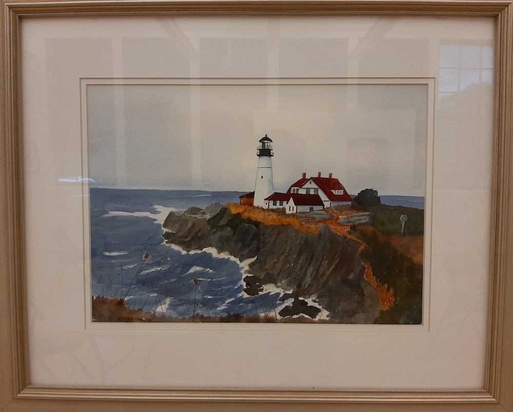 Portland Head Light, watercolor
