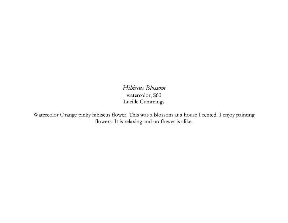 Hibiscus description corrected