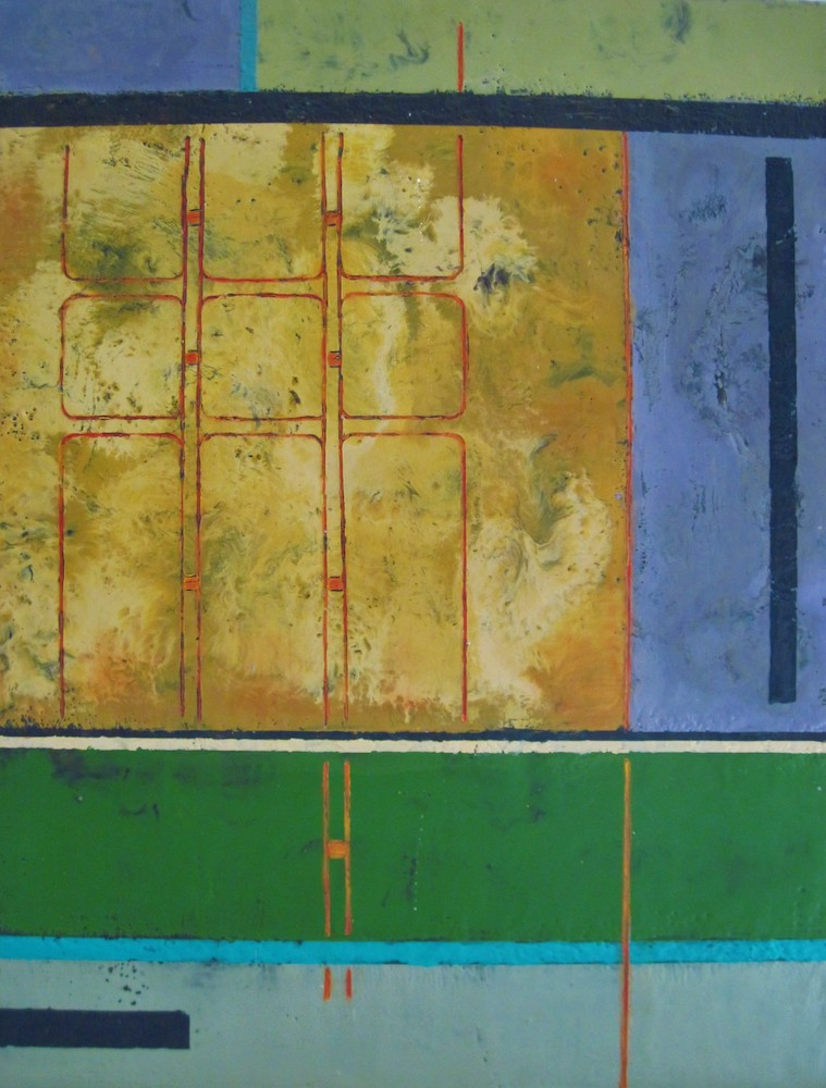 The Plan, encaustic/oil