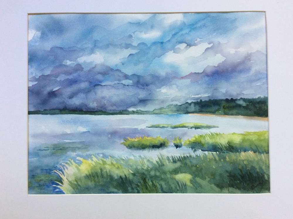 Nauset Marsh, watercolor