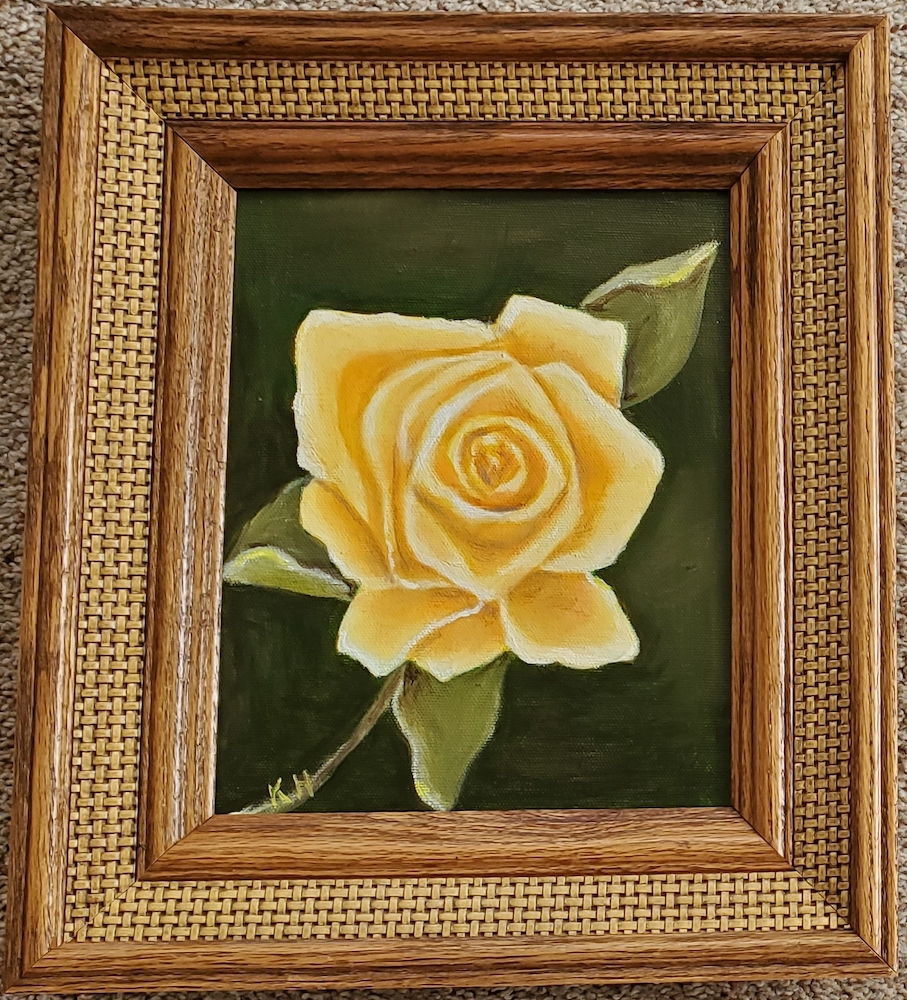 Yellow Rose, oil