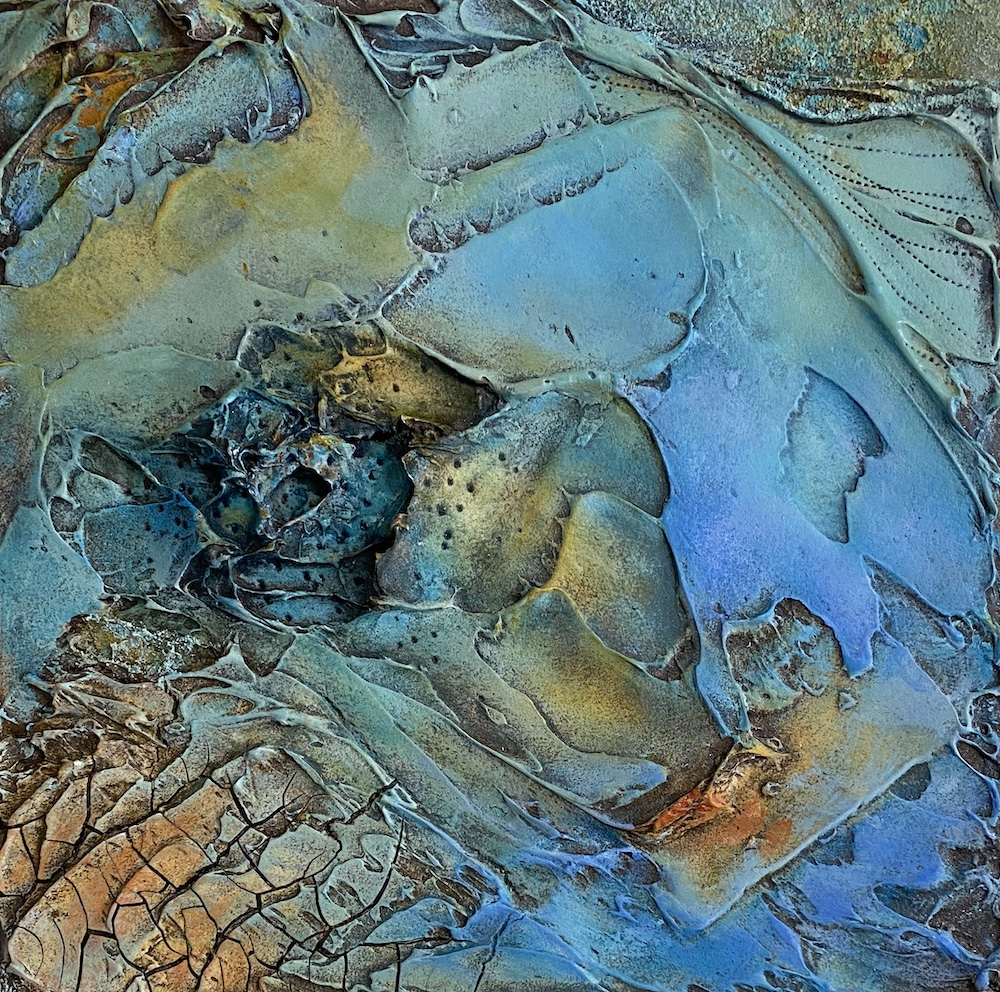 Moody Blues No. 2, mixed media